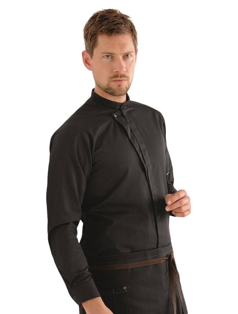 Kentaur 23515 Long Sleeve Chef/Service Jacket Front View Black