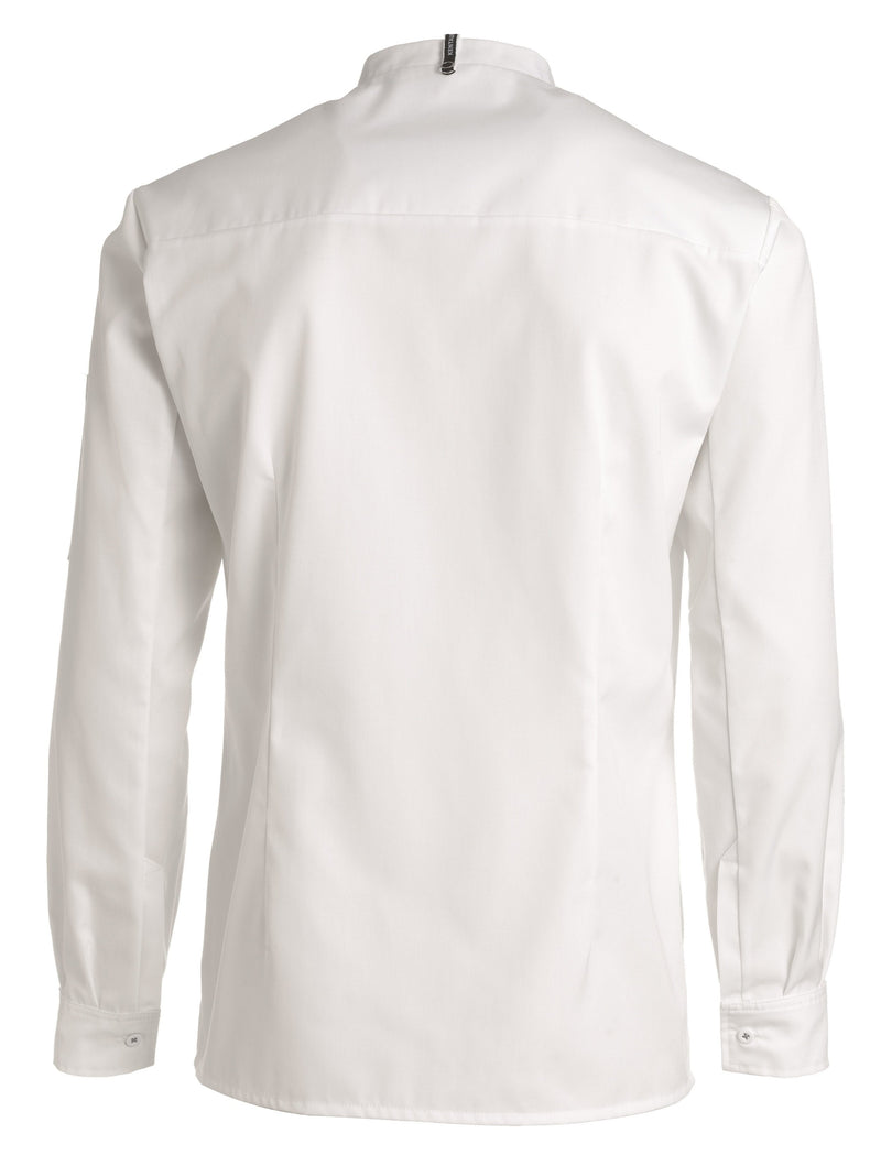 Kentaur 25203 Chef/Service Long Sleeve Shirt Back View White