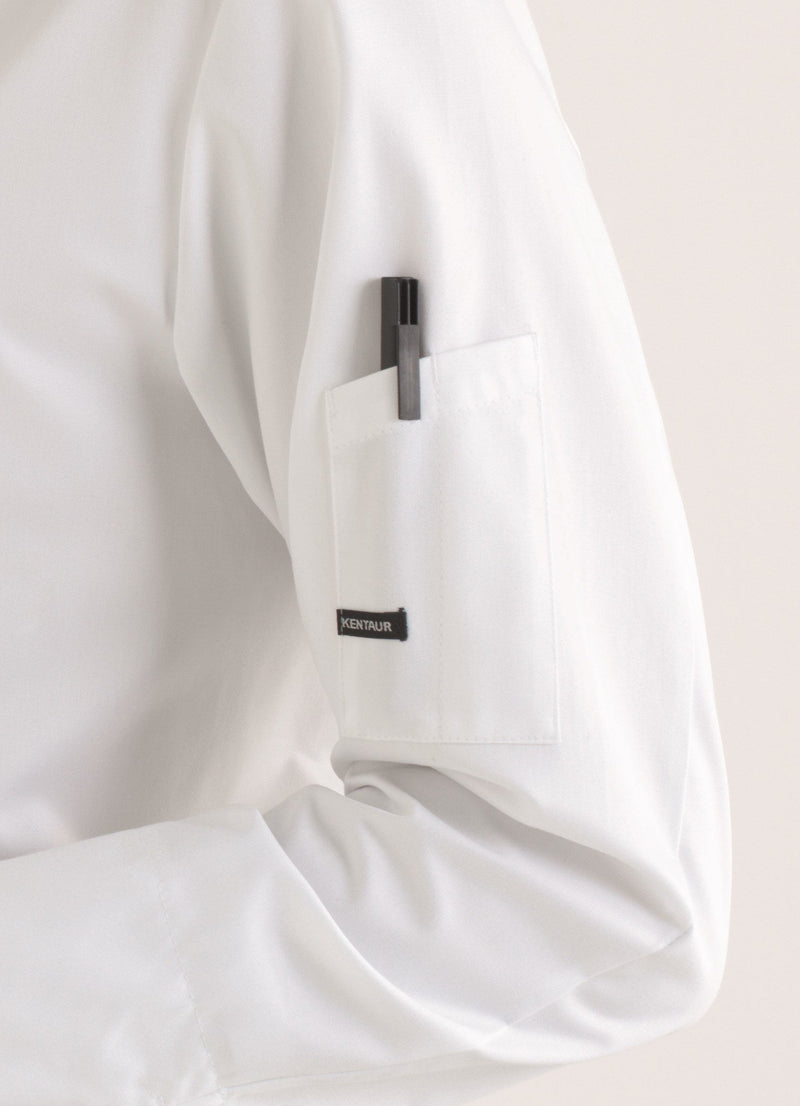 Kentaur 25203 Chef/Service Long Sleeve Shirt Side View White