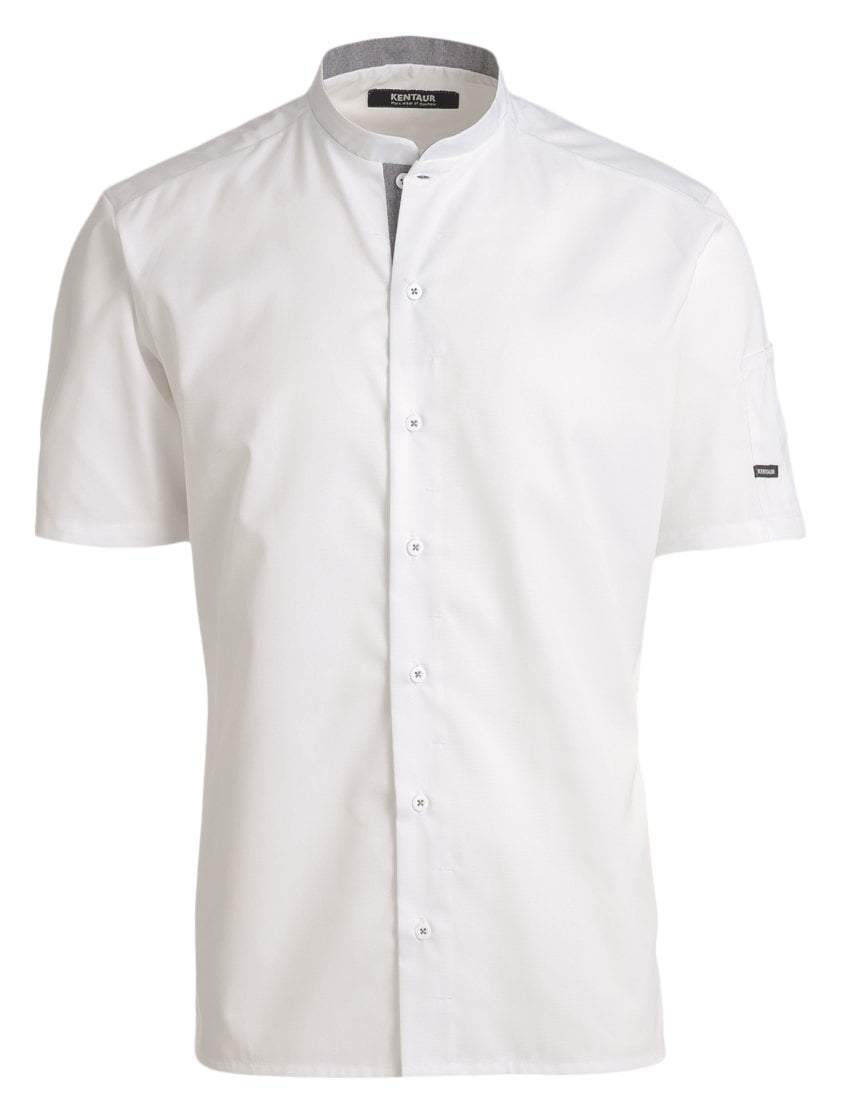 Kentaur 25209 Short Sleeve Chef/Service Shirt - Front - White