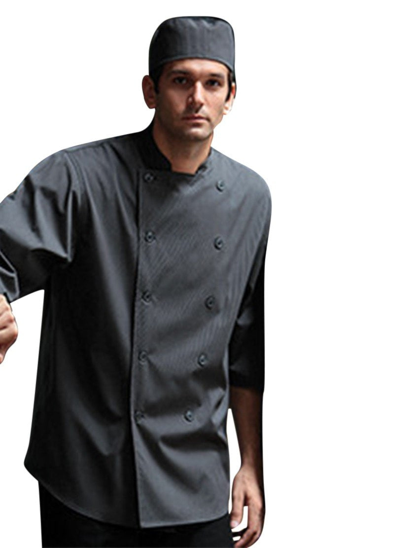 Chef Works Brighton Chef Coat SL3001 Gray Front Profile
