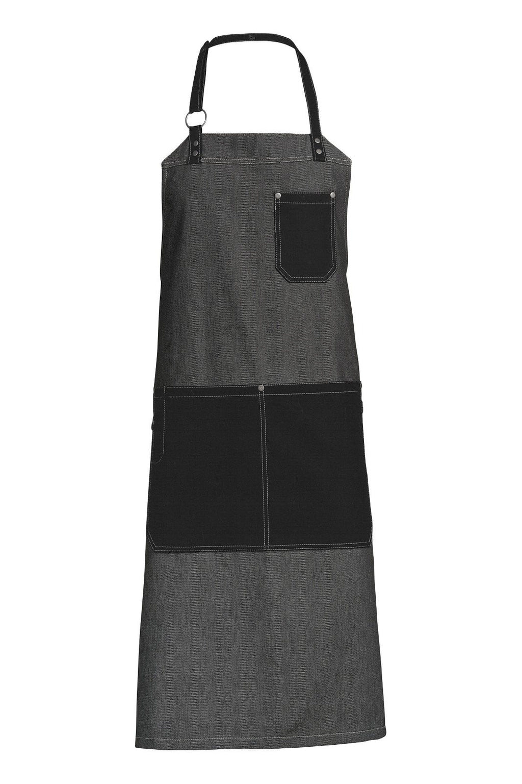 Kentaur 30390 Raw Bib Apron Black