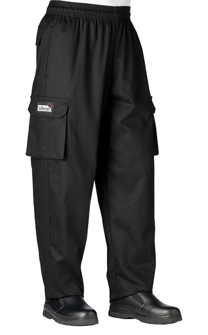 Chefwear Cargo Chef Pants 3200 Black