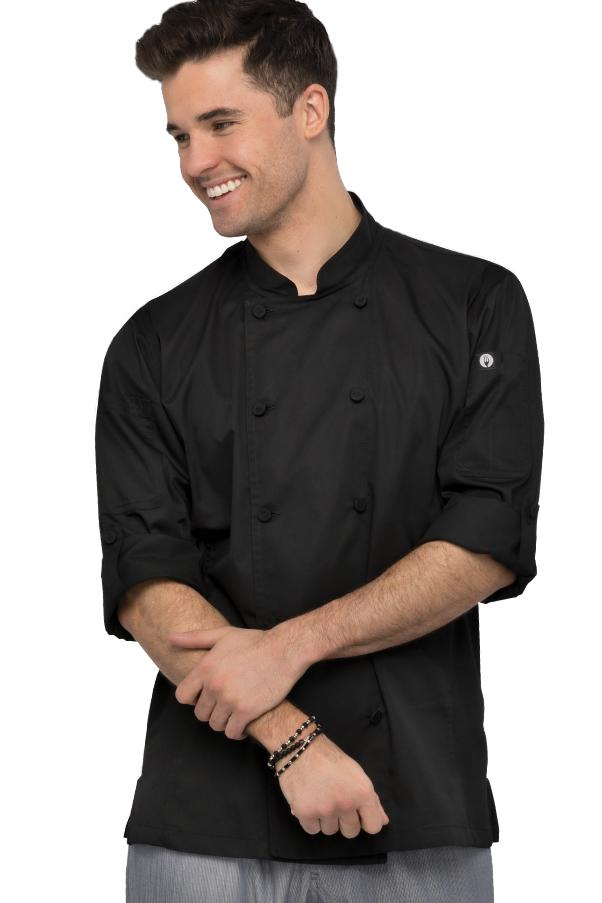 Chef Works Manteau de chef Bowden Cool Vent Roll Up Sleeves - Front