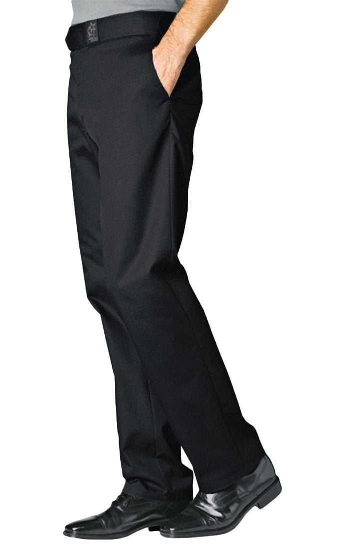 Denver black Chef Pants by Bragard Black Side