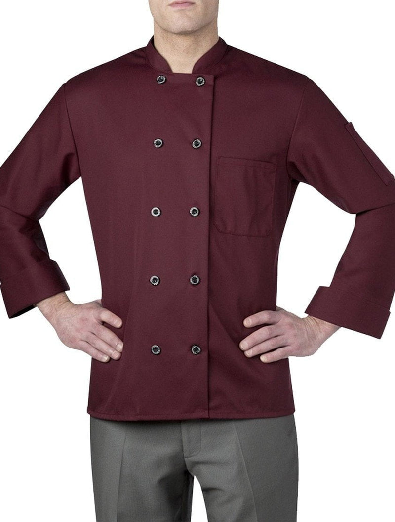 Chefwear Three Star Chef Coat 4410 Maroon