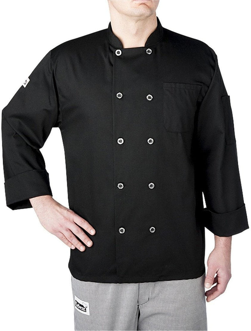 Chefwear Three Star Chef Coat 4410 Black