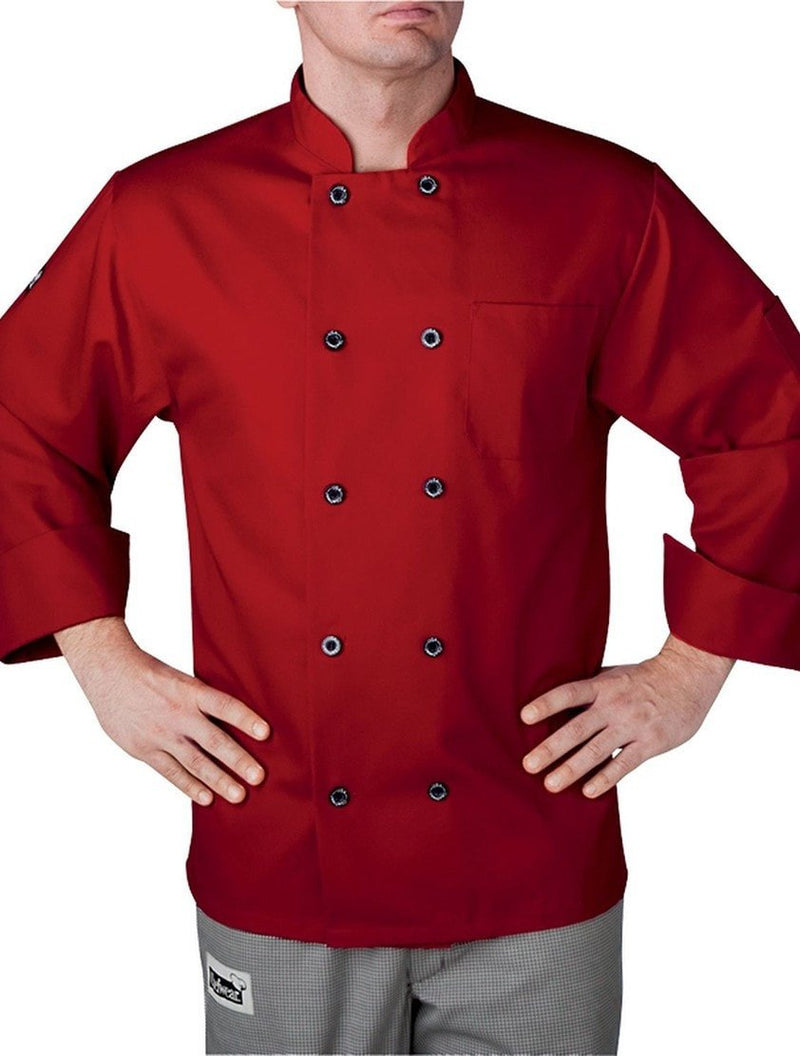 Chefwear Three Star Chef Coat 4410 Red'