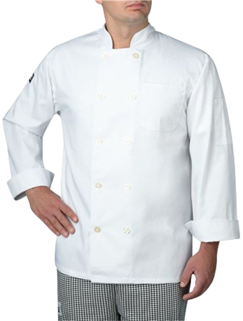 Chefwear Three Star Long Sleeve Lightweight Chef Jacket (4415)