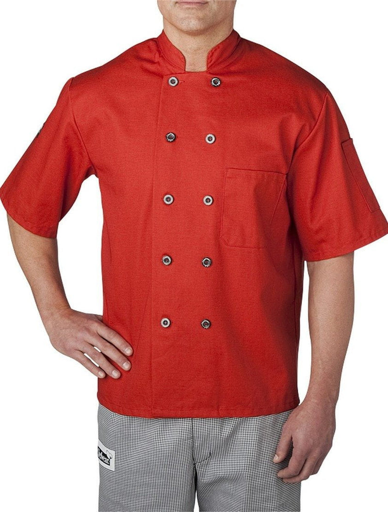 Chefwear Three Star Chef Jacket 4455 Red Orange