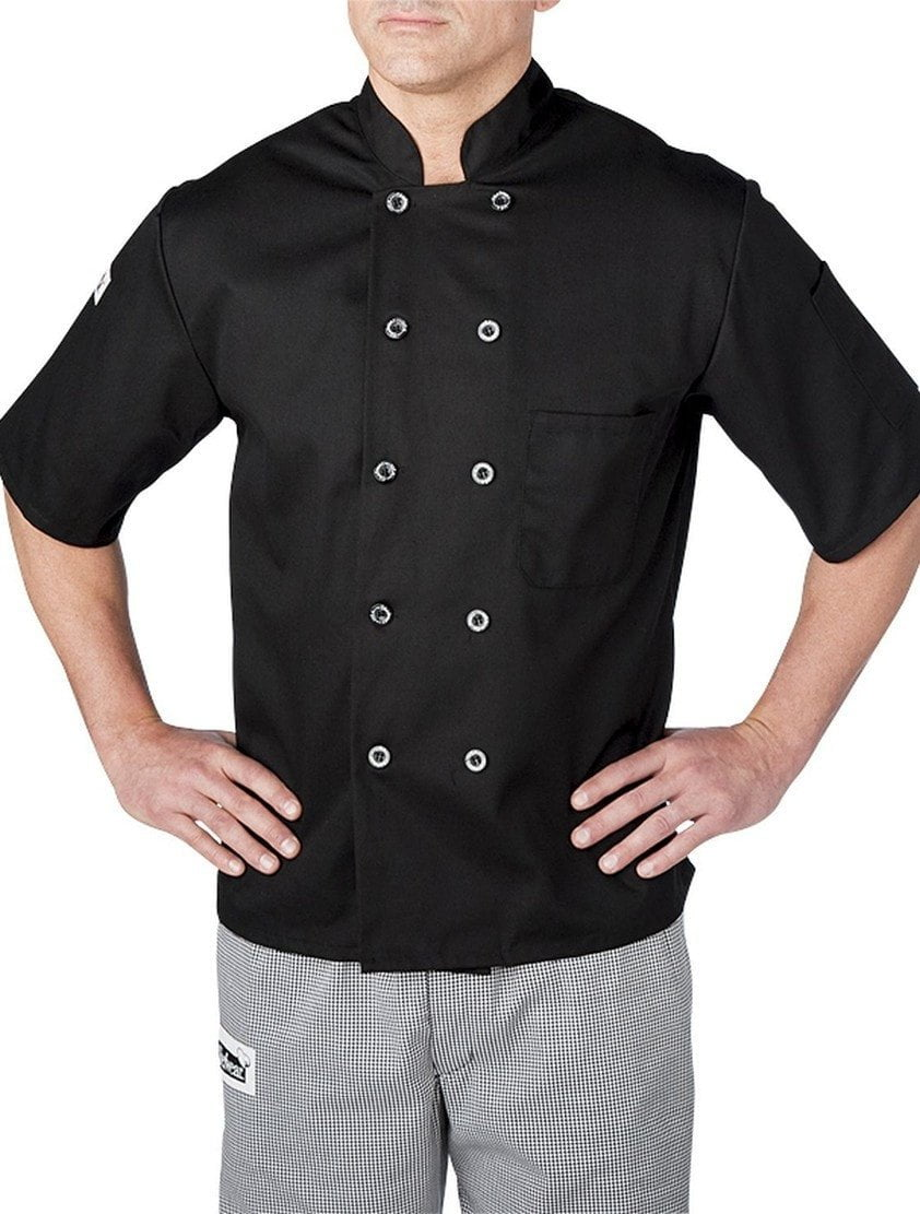 Chefwear Three Star Chef Jacket 4455 Black