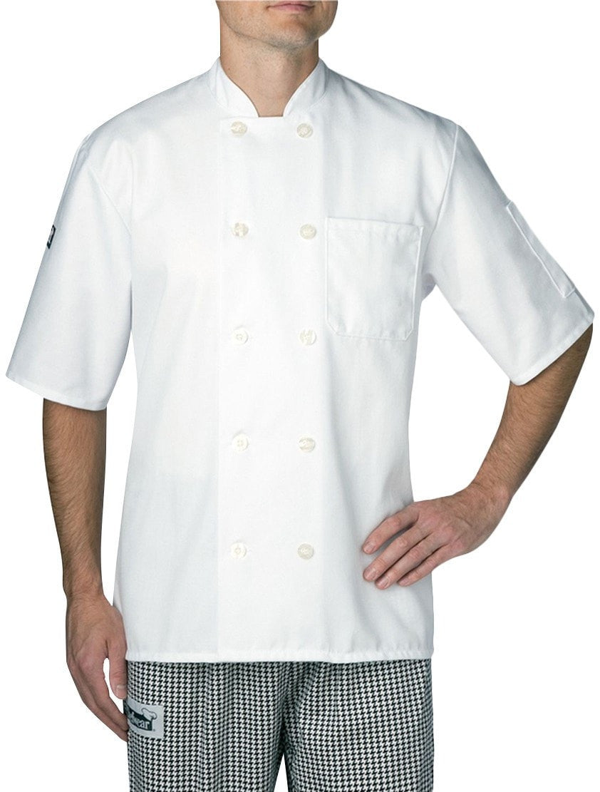 Chefwear Three Star Short Sleeve Lightweight Chef Jacket (4456) White