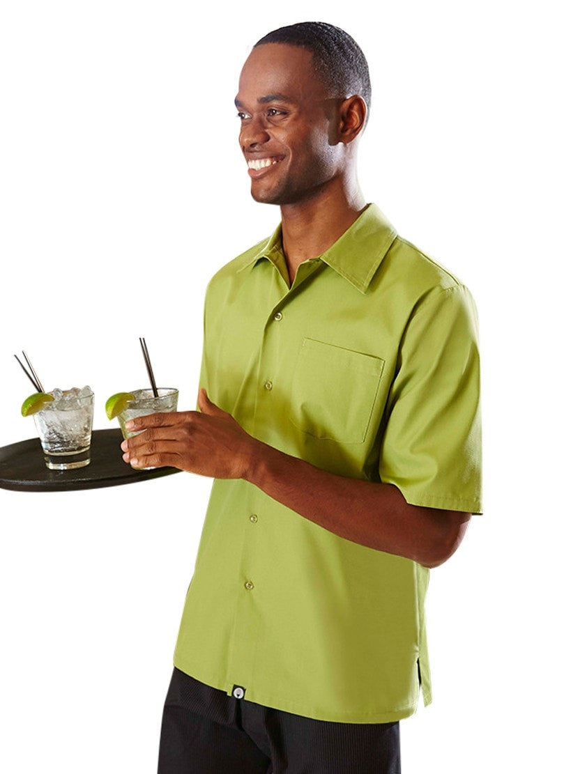 Chef Works Cafe Shirt Lime