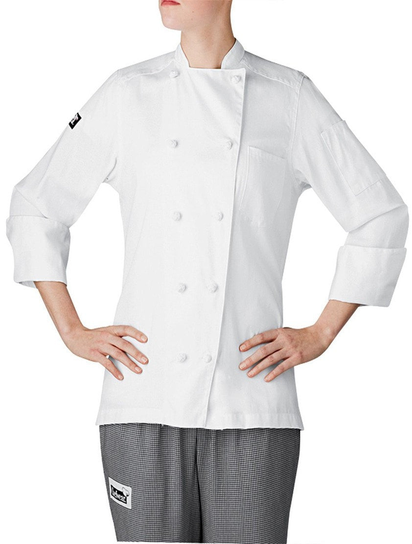 Chefwear Five Star Women's Lightweight Chef Coat White