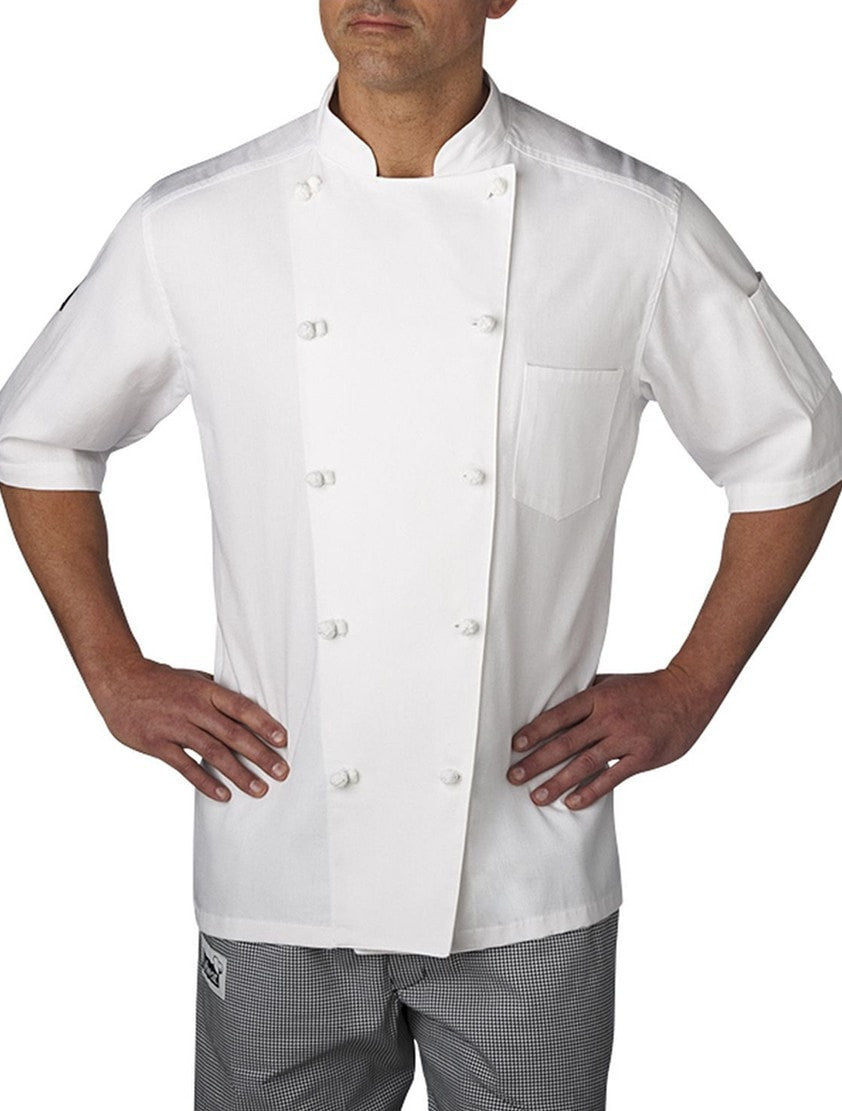 Chefwear Five Star Short Sleeve Chef Coat 5551 White Front
