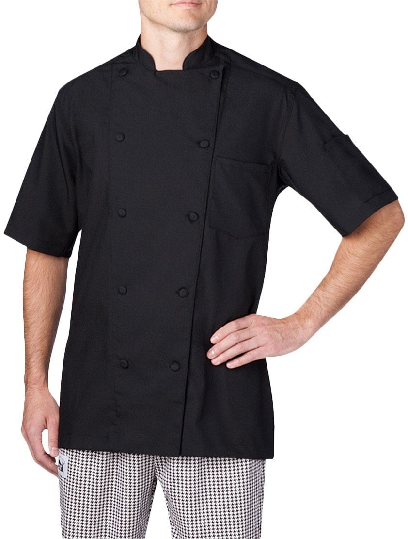 Chefwear Four Star Vented Lightweight Chef Jacket (5612) Black