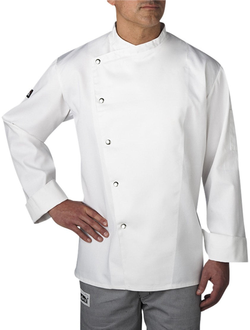 Four Star 5620 Snap Chef Coat by Chefwear White Brushed Snaps