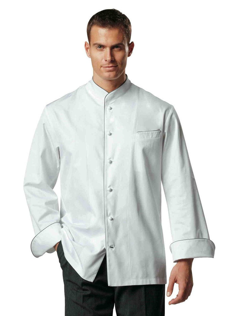 Sebastien Chef Jacket by Bragard White Front Profile