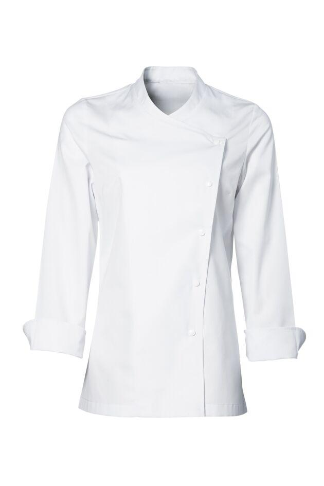 Julia Women Chef Jacket- No Model - White