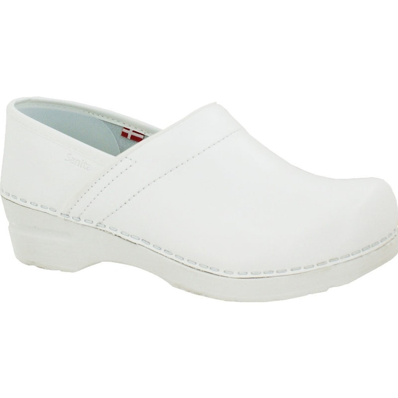 Sanita Femme Professional PU Medical Clog Blanc Main