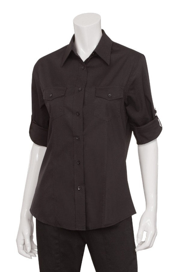 Chef Works Women's Two-pocket Shirt Black