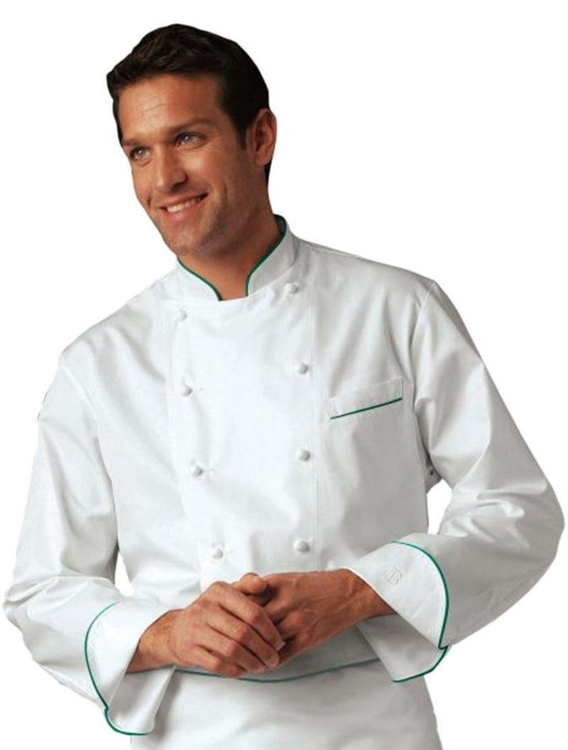 Grand Chef Perigord Jacket w/ Green Piping by Bragard