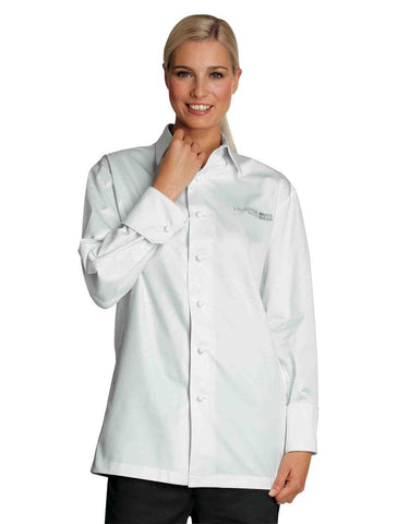Auberge Womens Chef Shirt-Jacket by Braggard White