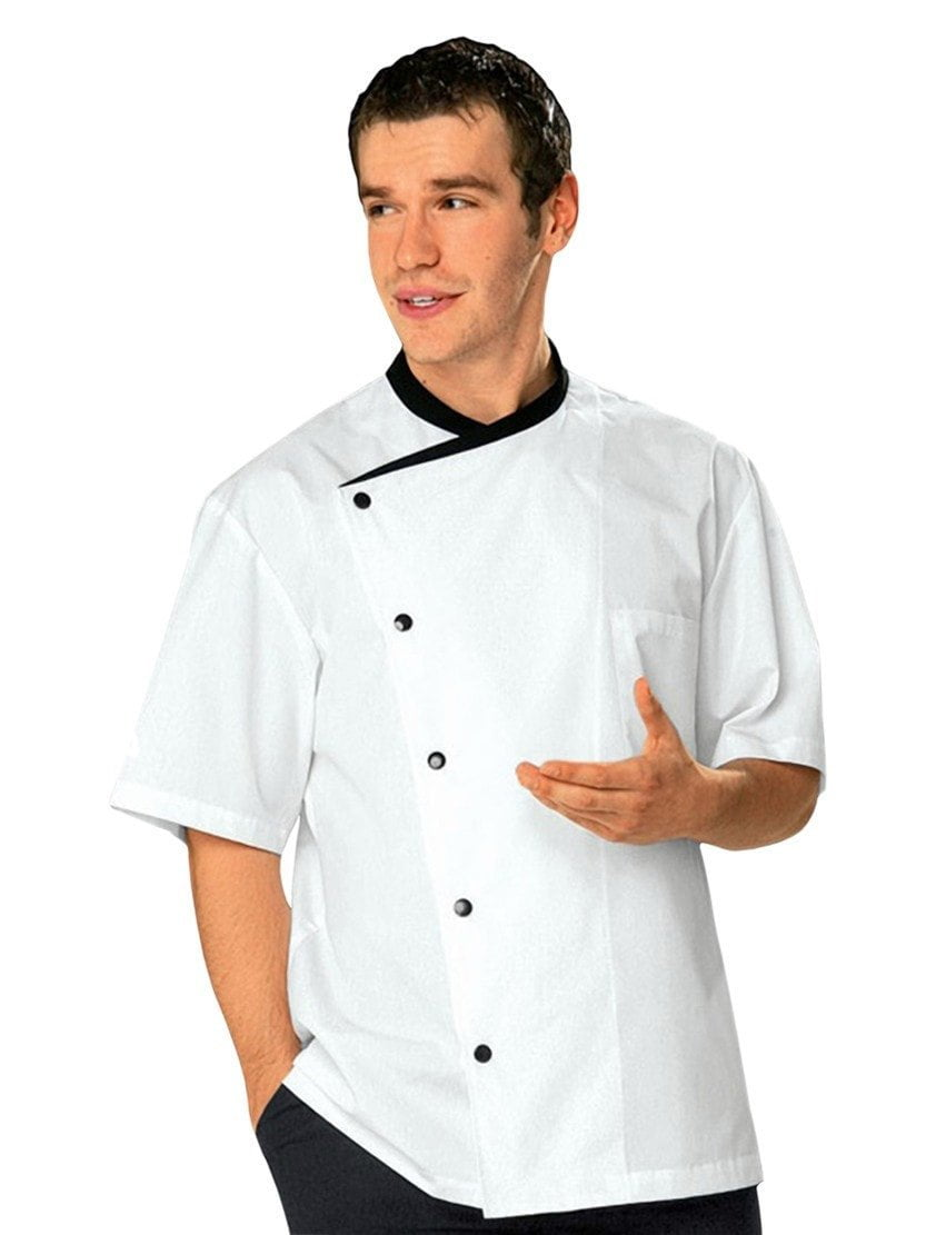 Bragard Juliuso Short Sleeved Chef Jacket White with Back Trim