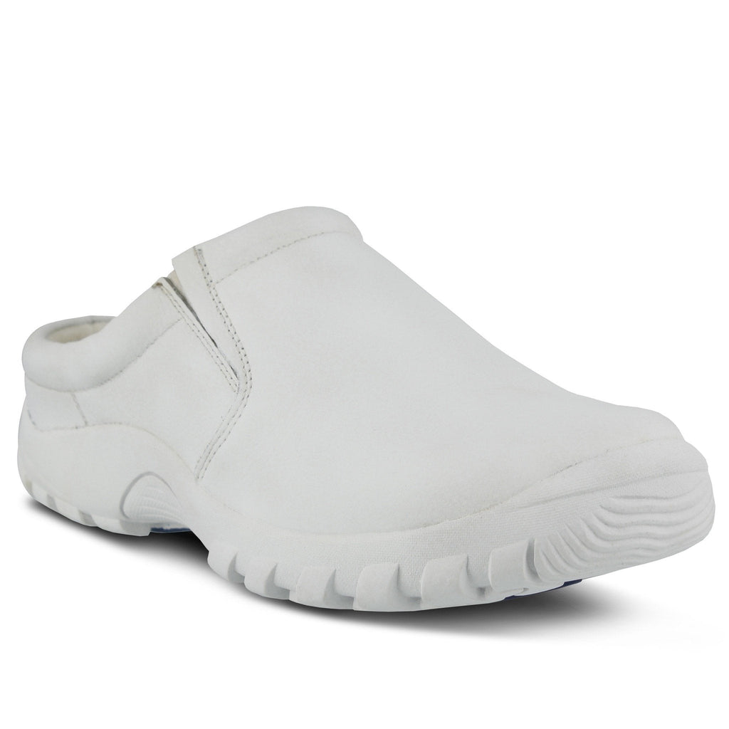 Spring Chaussures Blaine Chef Chef Clog Blanc