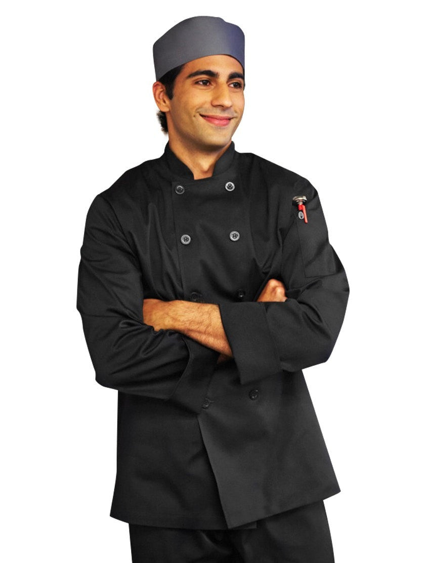 Chef Works Bastille Basic Chef Manteau 201304 Black Front Profile