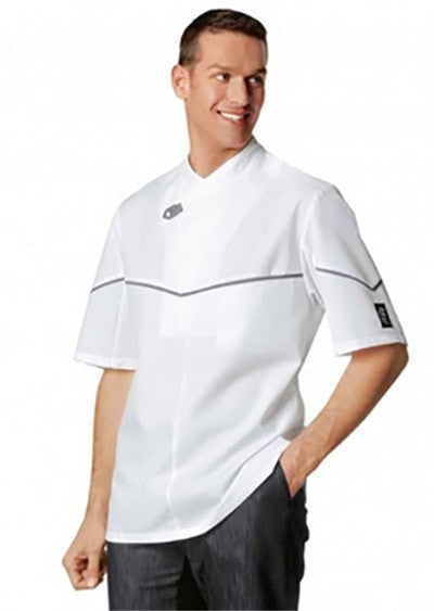 Bragard Texas Chef Jacket White Front Profile