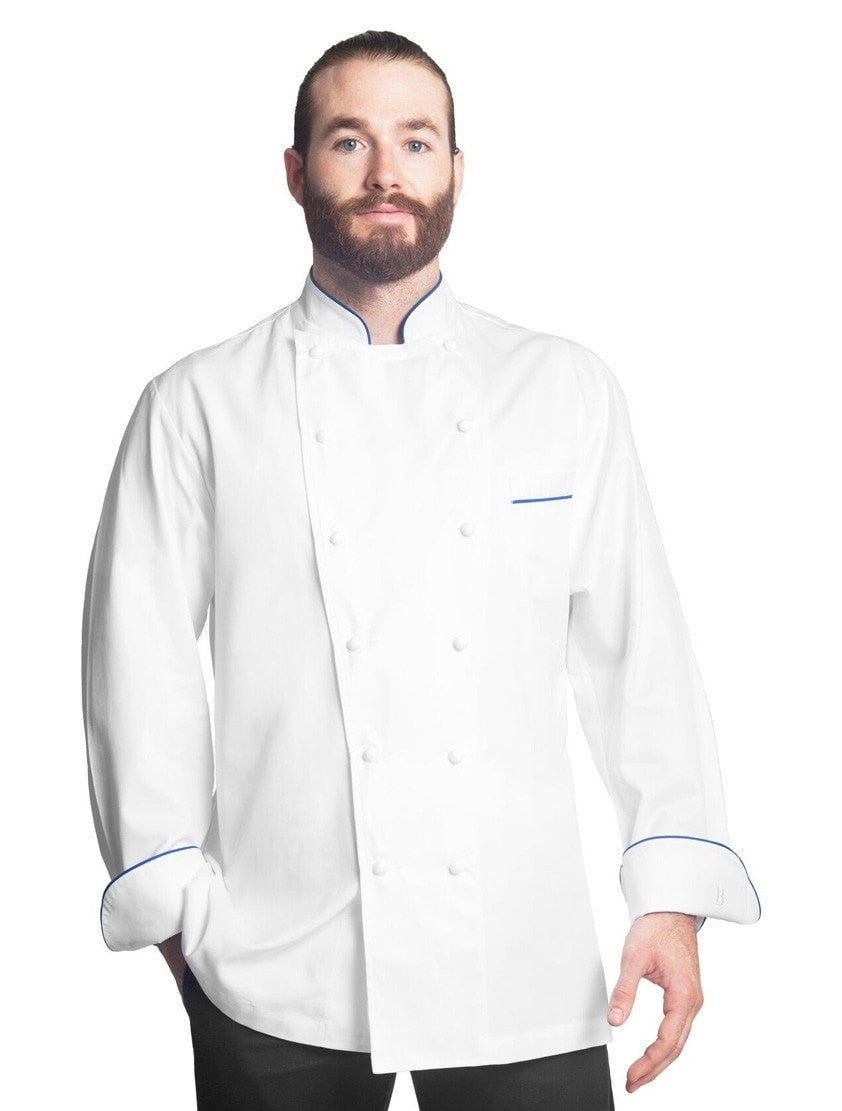 Grand Chef Perigord Jacket w/Blue Piping by Bragard