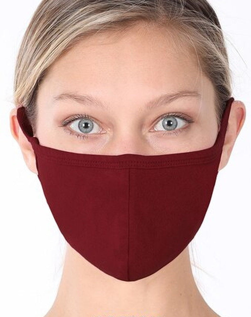 Fiumara Apparel Reusable Cotton Face Mask with PM2.5 Filter Pocket