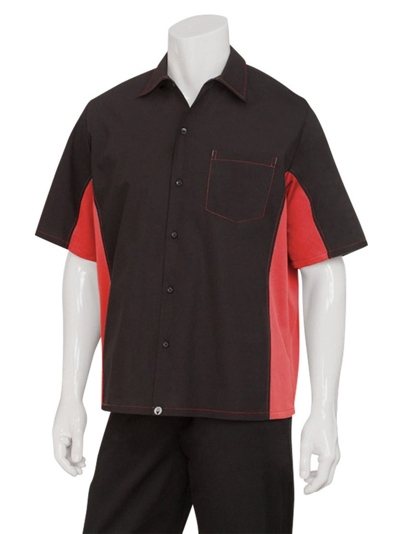Chef Works Men's Universal Contrast Shirt Red