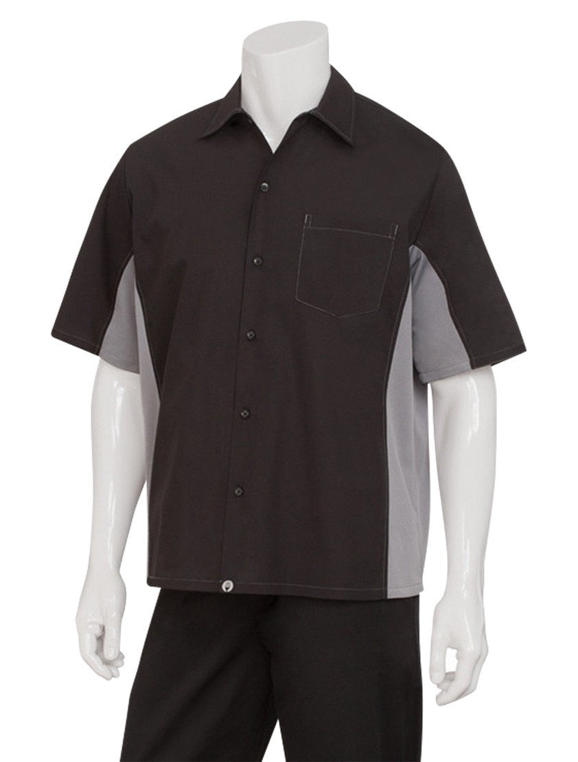 Chef Works Men's Universal Contrast Shirt Grey
