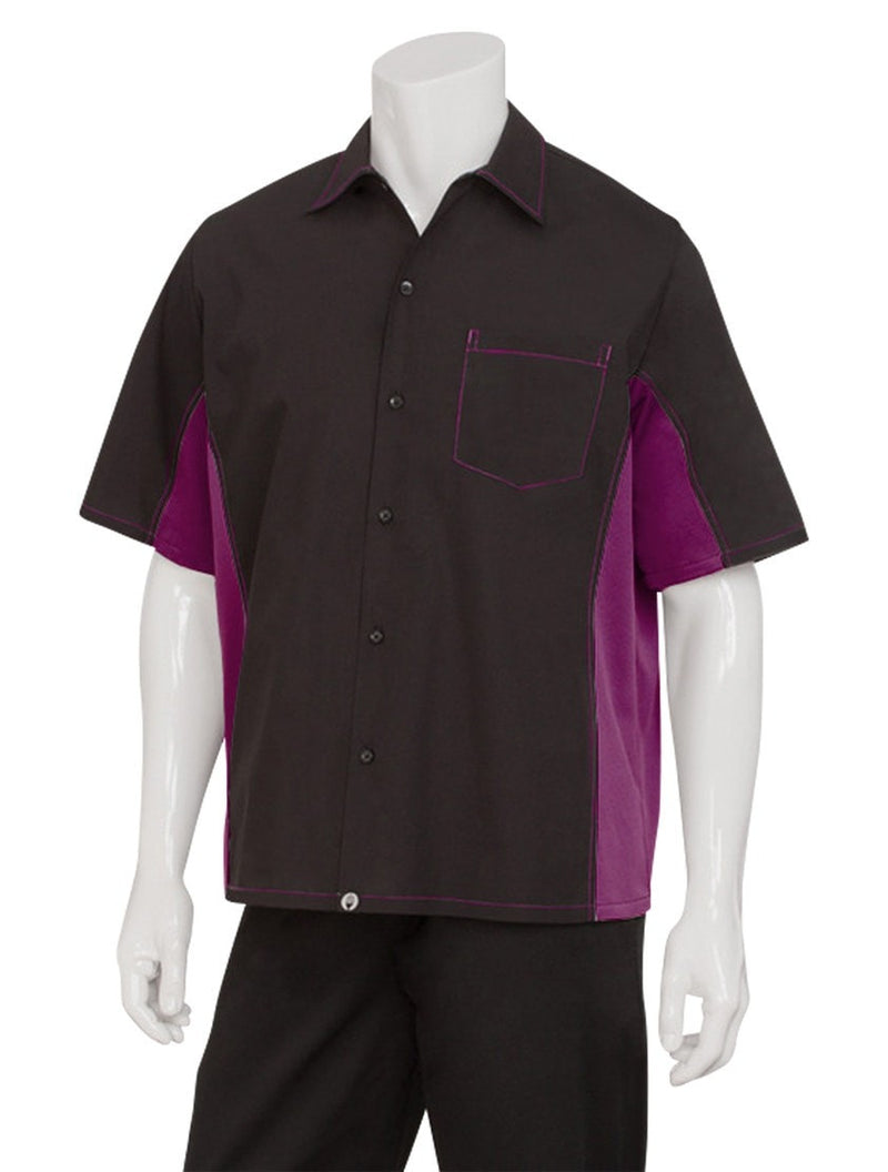 Chef Works Chemise Homme Contraste Universel Merlot