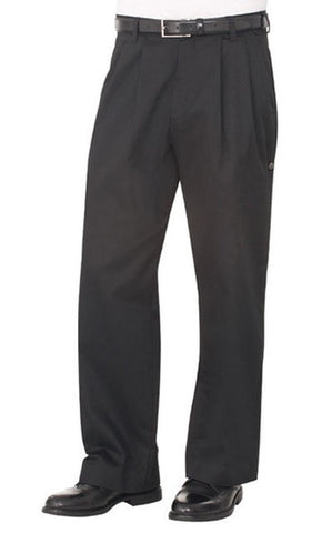 Chef Works Basic Chef Pants Black Front