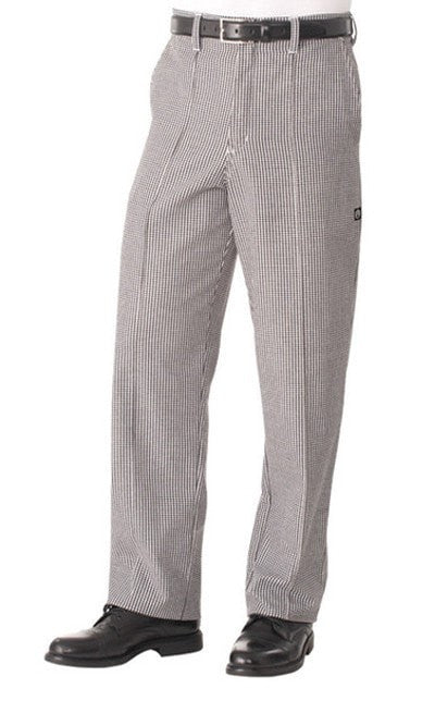 Chef Works Basic Chef Pants: Small Check Houndstooth Front
