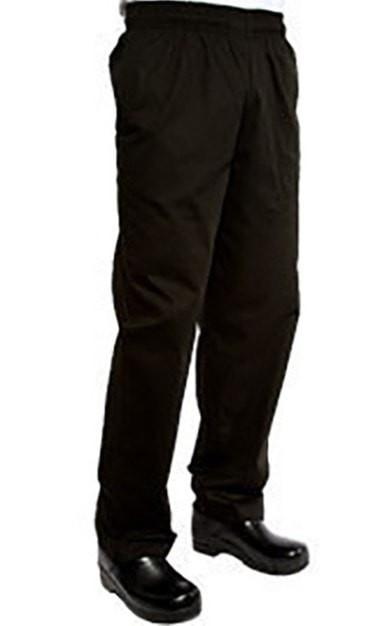 Chef Works Designer Baggy Chef Pants Black Front