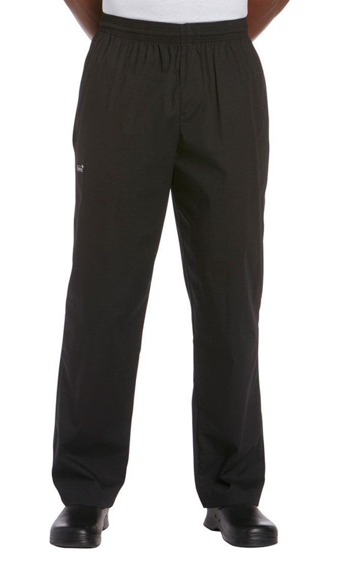 Chefwear Traditional Rip Stop Chef Pants Black CW3101 - Side