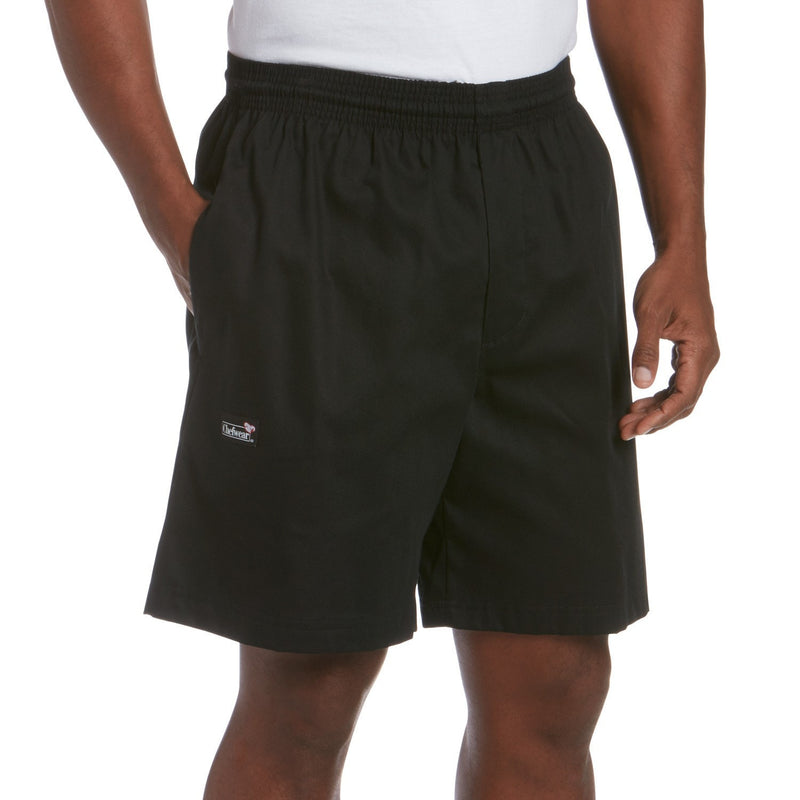Chefwear Ultimate Cotton Chef Shorts - Black - Front