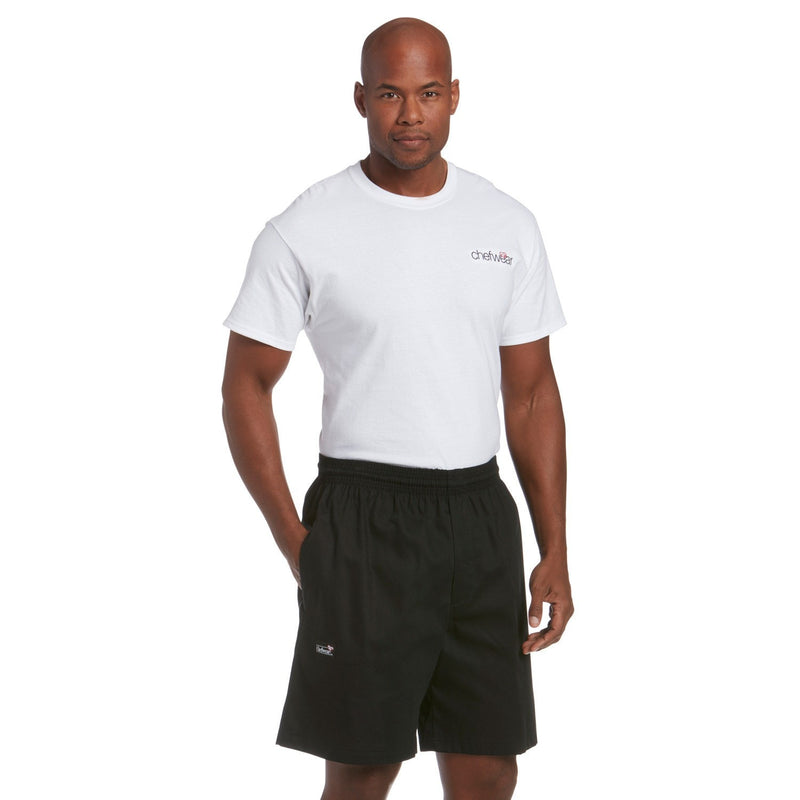 Chefwear Ultimate Cotton Chef Shorts - Black - Side