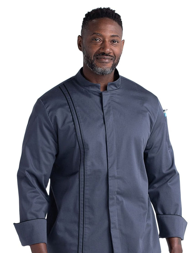 Chefwear Stretch Teflon Chef Jacket - Grey Front