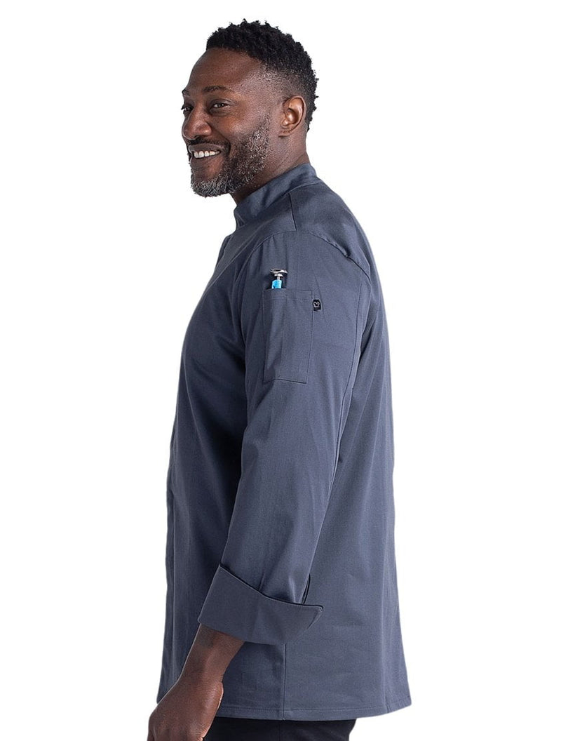 Chefwear Stretch Teflon Chef Jacket - Grey - Side