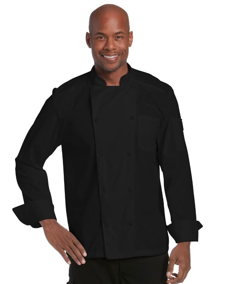 Chefwear Mesh Back Chef Jacket Black CW5663-Front