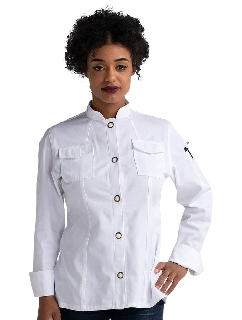 Chef Works Bowden Cool Vent Roll Up Sleeves Chef Coat