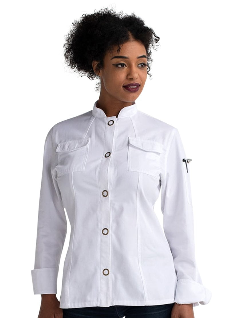 Chefwear Women's Ring Snap Chef Jacket