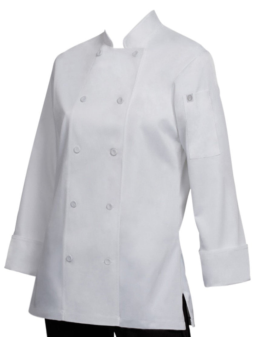 Marbella Women's Chef Coat White Front