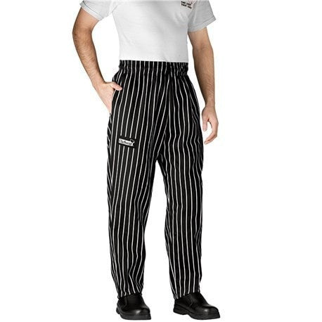 Chefwear Four Star Ultimate Chef Pants (3700) Black Chalk Stripe