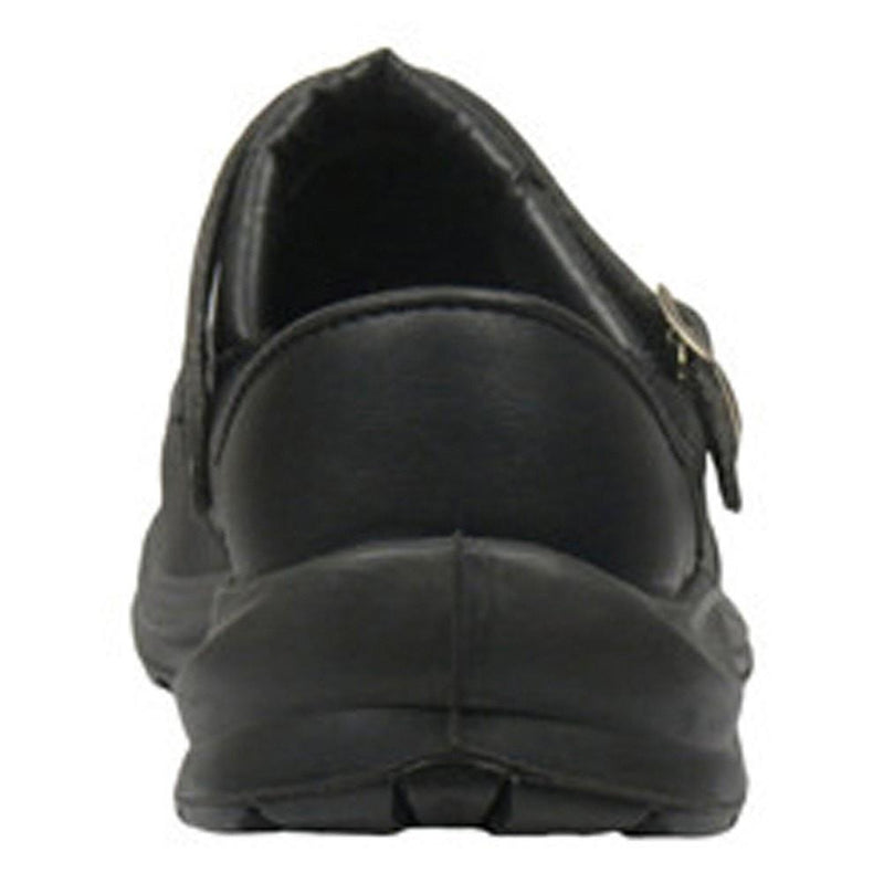 "Giasco ""Free"" Semi Open-Back Leather Work Shoe Black  -Back"